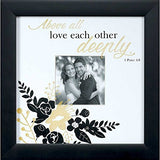 "Wedding Wall Photo Frame 10"" x 10"" for 4"" Photo - Above All Love Each Other Deeply 1 Peter 4:8"