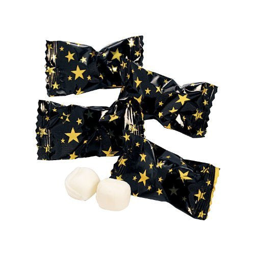 Black with Gold Stars Buttermints - Movie Night Treats