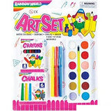 19 Piece ArteSet Paint Chalk & Crayons