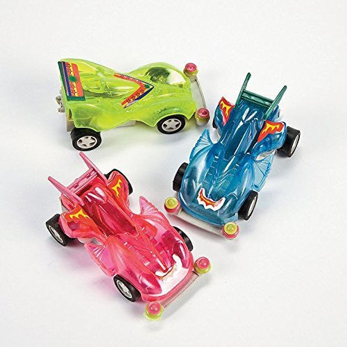 Transparent Neon Friction Racers - 36 Racers