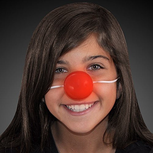 Light Up Blinking Red Clown Nose