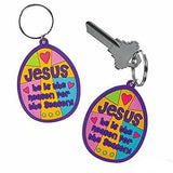 Rubber Easter Jesus Is The Reason Faith Key Chains