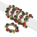 Dozen Jingle Bell Beaded Bracelets