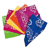 Dozen Cotton Hibiscus Hawaiian Bandannas