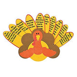 "12 ~ Story of Thanksgiving Turkey Craft Kits ~ Paper / 12"" x 7"" ~ New"