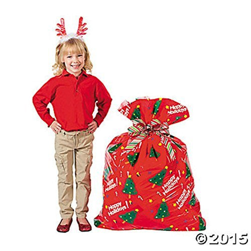 "12 Jumbo Christmas Tree Holiday Gift Bags 47"" Sturdy"