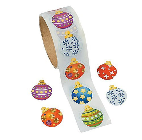Ornament Stickers Roll of 100