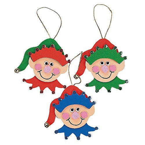 Foam Elf Ornament Craft Kit - Crafts for Kids and Ornament Crafts-makes 12
