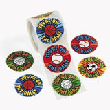 You're on the Ball  Sports Ball Stickers 100 Round Stickers