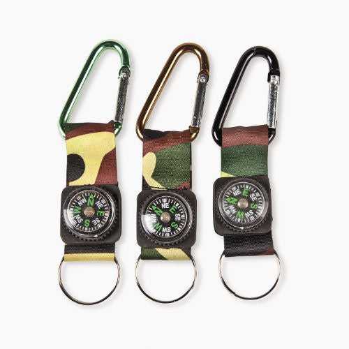 Camouflage Army Belt Compass Key Chains (1 dz)