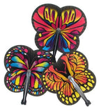 Fun Paper Monarch Butterfly-Shaped Folding Fans X 12