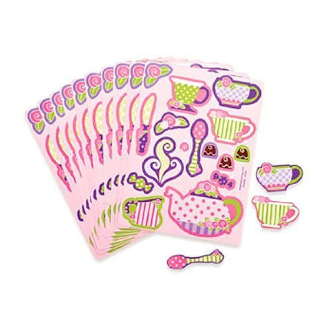 24 Pink Tea Party Sticker Sheets