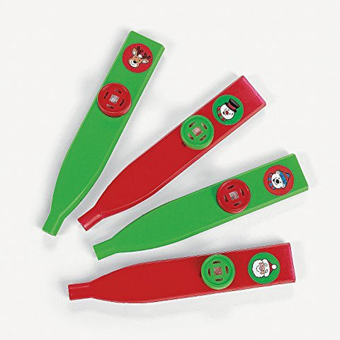 Christmas Holiday Kazoos Noise Makers (12 Pack)