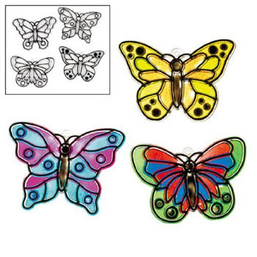 Butterfly Suncatchers (1 dz) by Fun Express