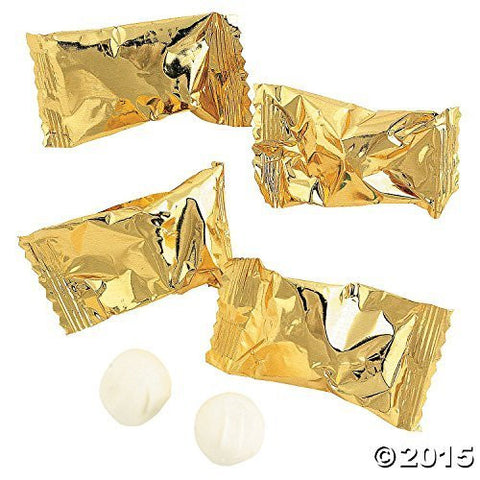 Gold Wrapped Wedding Buttermints (1-Pack of 108)