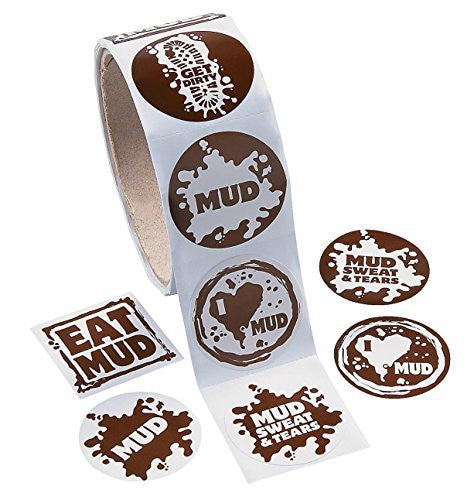 Mud Run Sticker Roll (100 Pack)