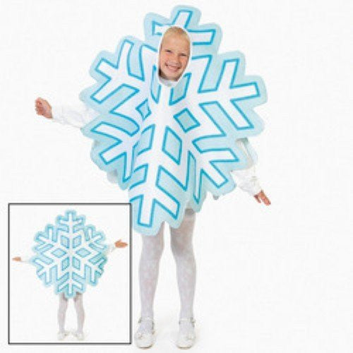 Snowflake Christmas Winter Holiday Child Costume NWT Osfm 4-14 Years