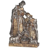 "Large 26.5"" Gold and Silver Toned Holy Family 1 Piece Nativity Set"