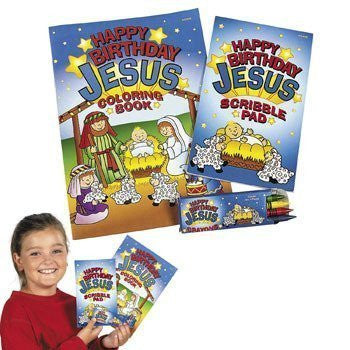 12 Happy Birthday Jesus Coloring Sets