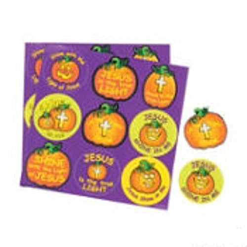 450 Christian Pumpkin Treat Stickers, Fall Festival, Trunk or Treat Ideas