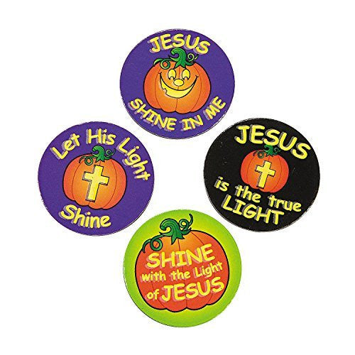 Christian Pumpkin Glow-In-The-Dark Magnets~2 units