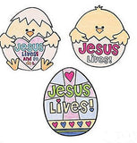 "CYO ""Jesus Lives"" Easter Chick Magnets - 1 Dozen"