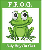 25 Fully Rely On God F.R.O.G. Bible Tracts