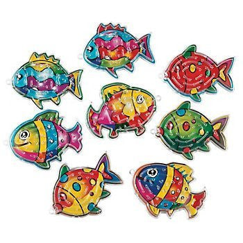 Fun Express 13686215 Plastic Fish Maze Puzzles