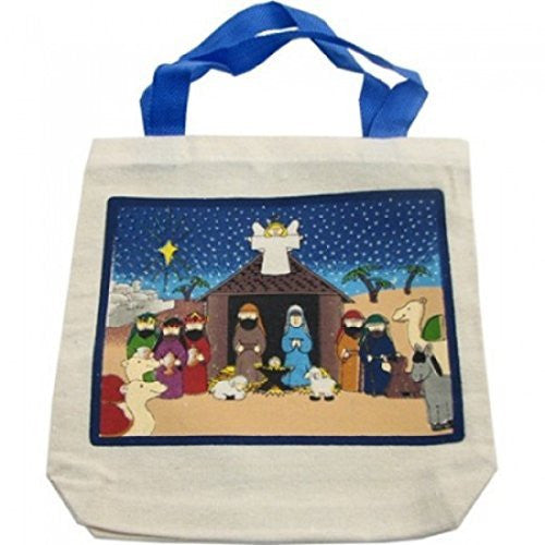 NATIVITY CANVAS TOTE BAGS (1 DOZEN) - BULK