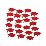 Red Graduation Hat Confetti - Party Tableware & Table Decorations