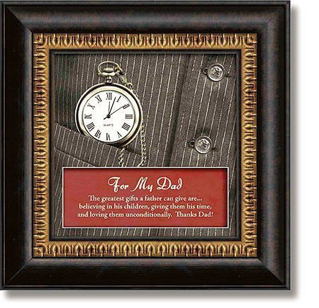 For My Dad 3D Framed Functional Tabletop Clock by Heart Felt