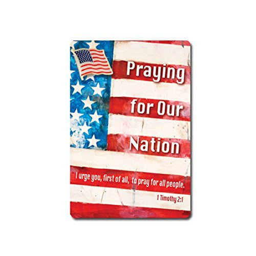 Praying for Our Nation American Flag Lapel Pin & Card