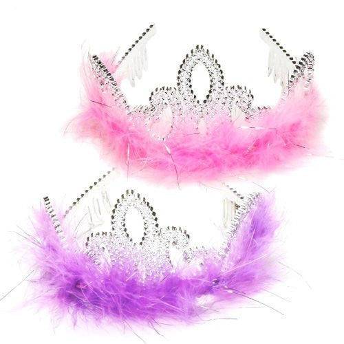 Lets Party By Fun Express Marabou Tiara / Various - color may vary