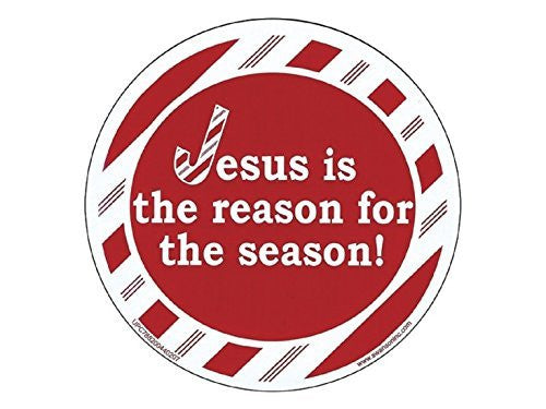 Round Magnet Jesus Is the Reason for Season - Pack of 6