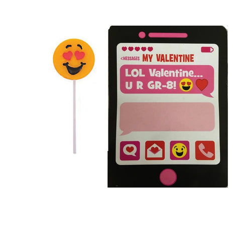 Valentine Emoji Suckers & Exchange Cards