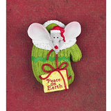 Peace On Earth Mouse Christmas Pins (6 Pack)