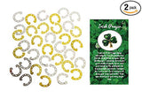Lucky Horseshoe Foil Confetti with One Irish Prayer Pin 4 Ounces