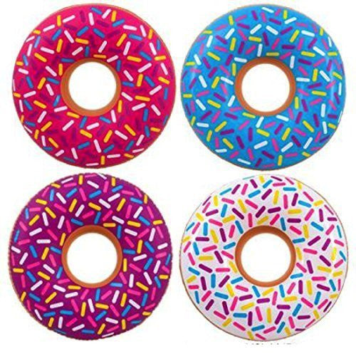"32"" Inflatable Sprinkled Donut Pool Toys (12 Pack)"