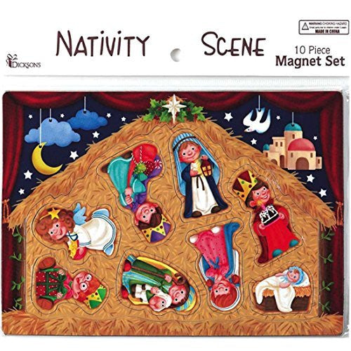 Dicksons Christmas 10 Piece Nativity Magnet Play Set (3 Sets)