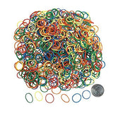 Rainbow Rubber Fun Loop Assortment Kit (1050 Pcs. + 50 Connectors.) 5/8""