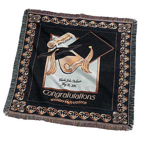 Personalized Graduation Throw Blanket