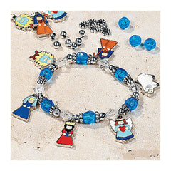 Beaded Nativity Charm Bracelet Craft Kit (Makes 6)