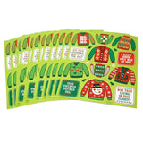 Christmas Ugly Sweater Party Favors Stickers (12 Sheets)