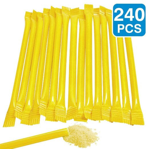 "Yellow Candy Filled 6"" Straws (240 Pack)"