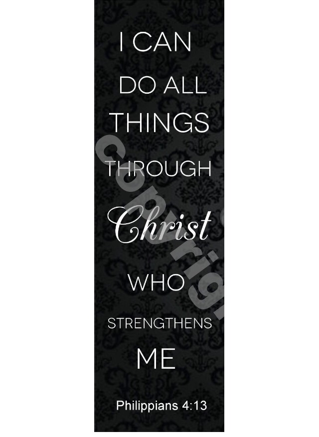 Philippians 4:13 I Can Do All Things Through Christ Bookmarks (100 Pack)