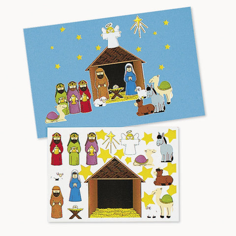 Make A Nativity Sticker Sets (1 dozen)