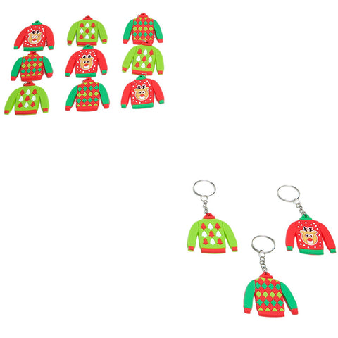 Ugly Sweater Key Chains ( Set of 6)