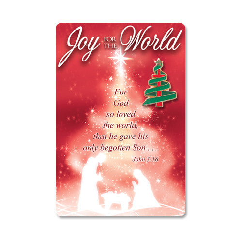Joy For The World Lapel Pin with Card