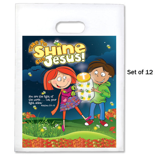 "9"" x 12"" Shine For Jesus Halloween Goodie Bags (Pack of 12)"