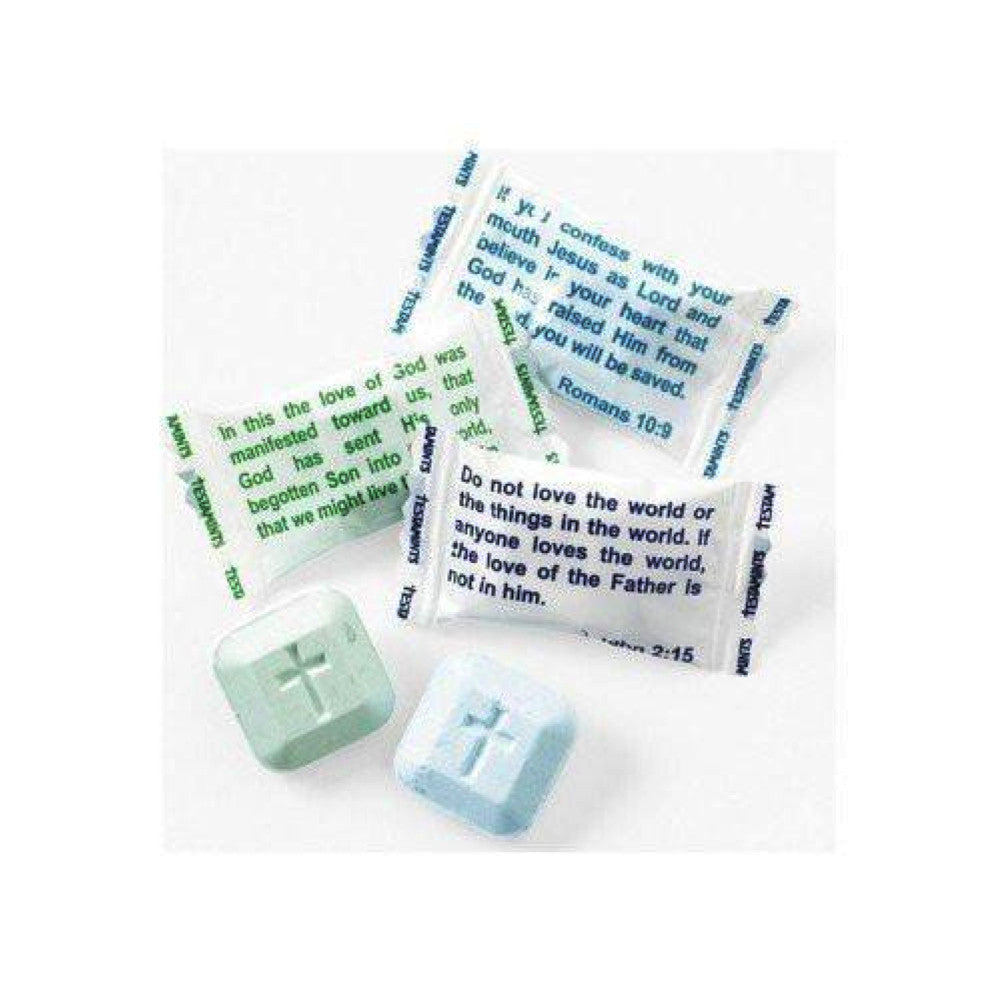 Testamints Mint candy with Scripture Bible Verse wrappers (140 Pieces)